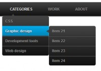 Useful  dropdown menu with  CSS3 jQuery