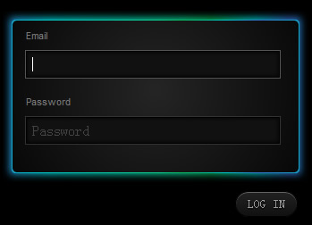Glowing login Form with jQuery and CSS3 (Glowform )