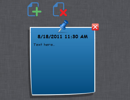 (HTML5Sticky)Sticky Notes for the Web with HTML5