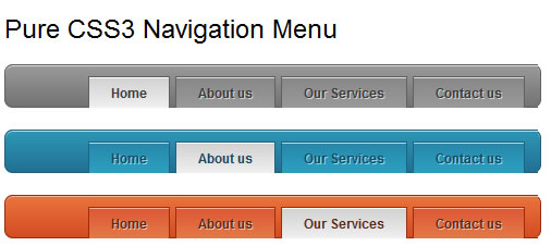simple Pure CSS3 Navigation Menu