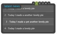mini accordion and news scroll ticker with jQuery