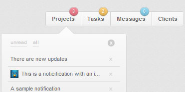 Awesome Notification tooltips Menu with jQuery