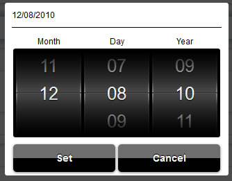 like iPhone  jQuery  scroller Date and Time picker