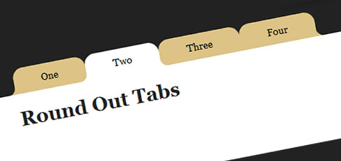 jQuery and CSS3  Round Out Borders Tabs