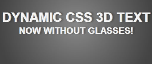 Pure CSS3 simple 3D text effect