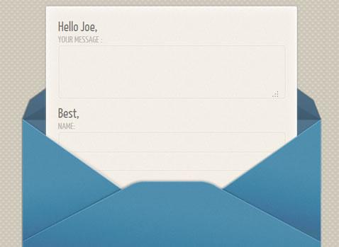 Unique css3  contact form