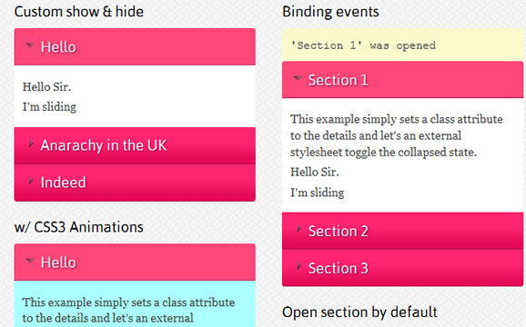 jQuery Collapsible Content accordion plugin