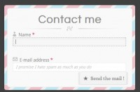 Stylish Contact Form with CSS3 HTML5