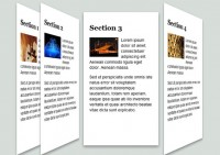 Cool CSS3 and html5 3D Accordion