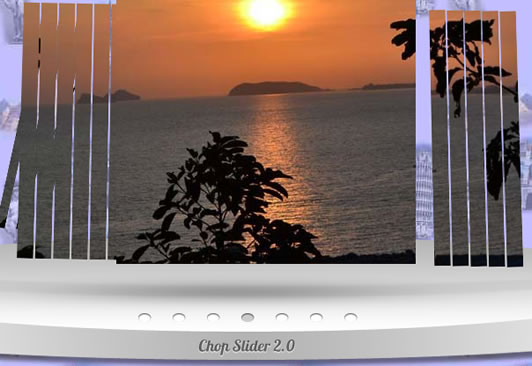 jQuery Chop Slider  photo album effect