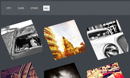 Cool jQuery images Filters effect