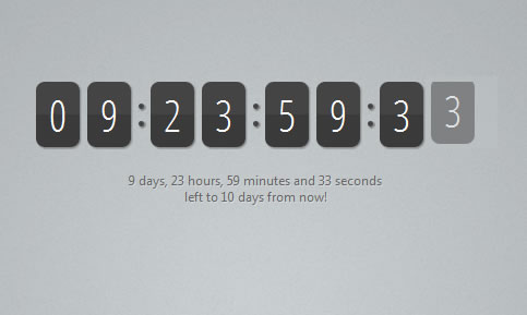 Very stylish jQuery Countdown Timer