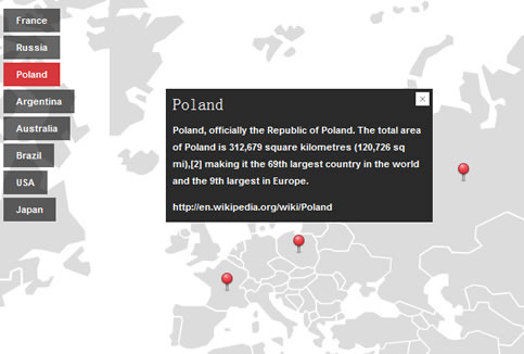lightweight  jQuery previous MobilyMap
