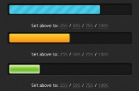 Stylish progress bars effect with CSS3