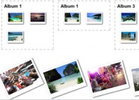 HTML5 sorting photos  Drag and Drop effect