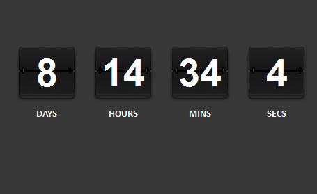 Rolodex Style jQuery Countdown Ticker