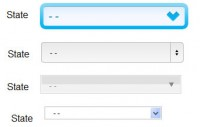 jQuery & CSS3 custom skin select lists