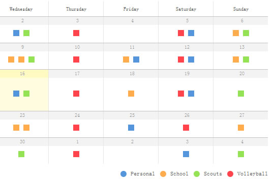 CSS3 and jQuery date calendar effect