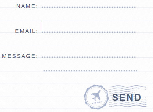 Stylish Handwritten Letter Style jQuery Form