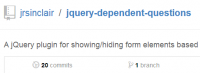 A jQuery plugin for showing/hiding form elements based on the answers to previous questions.