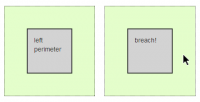 Perimeter.js - A jQuery plugin allows you to trigger code when the mouse gets near an element.