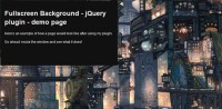 jQuery Fullscreen Background effect