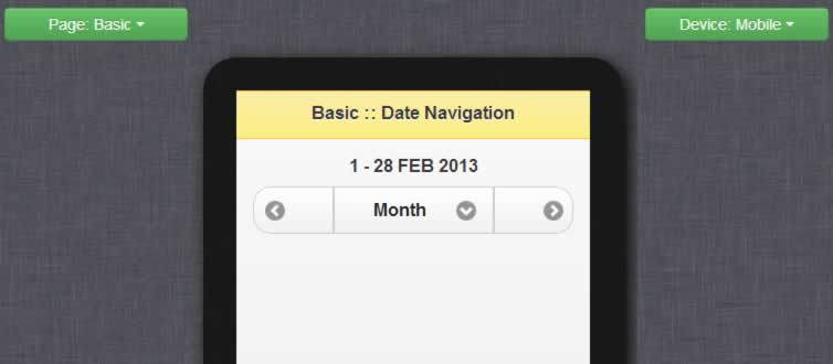 super cool  Mobile Date Navigation with JQuery