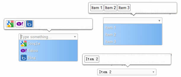 an user-friendly select list effect with jQuery