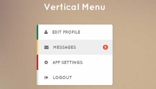 jQuery and CSS3 Vertical Menu effect | vertical navigation menu