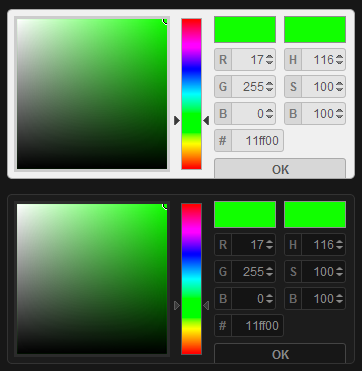 colpick - A jQuery RGB, HEX and HSB Color Picker plugin is free, lightweight and customizable