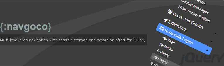 simple slide navigation with JQuery plugin