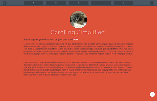 Scrolld.js - Single page scrolling navigation with jquery plugin